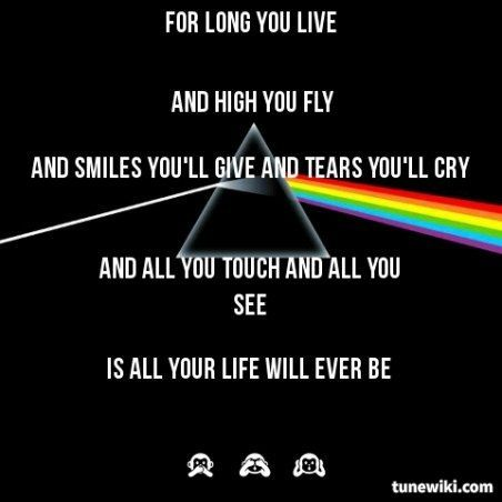 Dark Music Quotes Dark Side Of The Moon Pink Floyd Music
