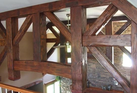 Decorative Wood Ceiling Beams, Timber Trusses, Post and Beam Trusses