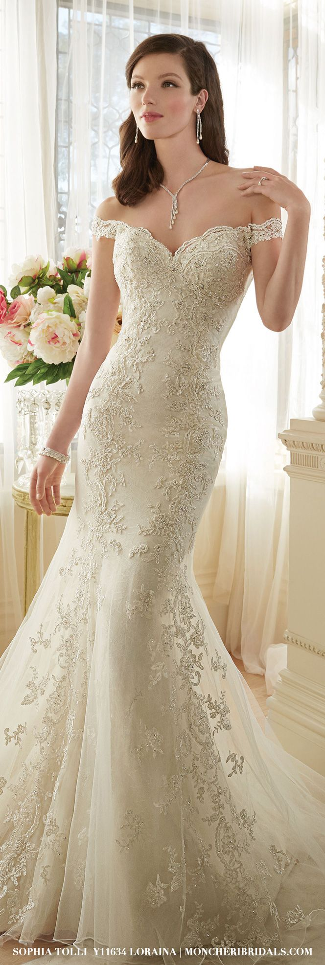 Y11634 – Loraina   Pinterest   Trumpets, Gowns and Shoulder