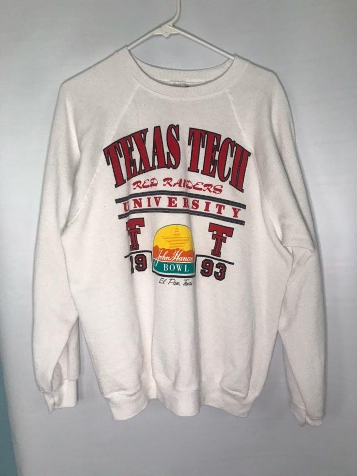 Vintage Texas Tech Crewneck Texas Tech Clothes Texas Tech Shirts Texas Tech [ 1600 x 1200 Pixel ]