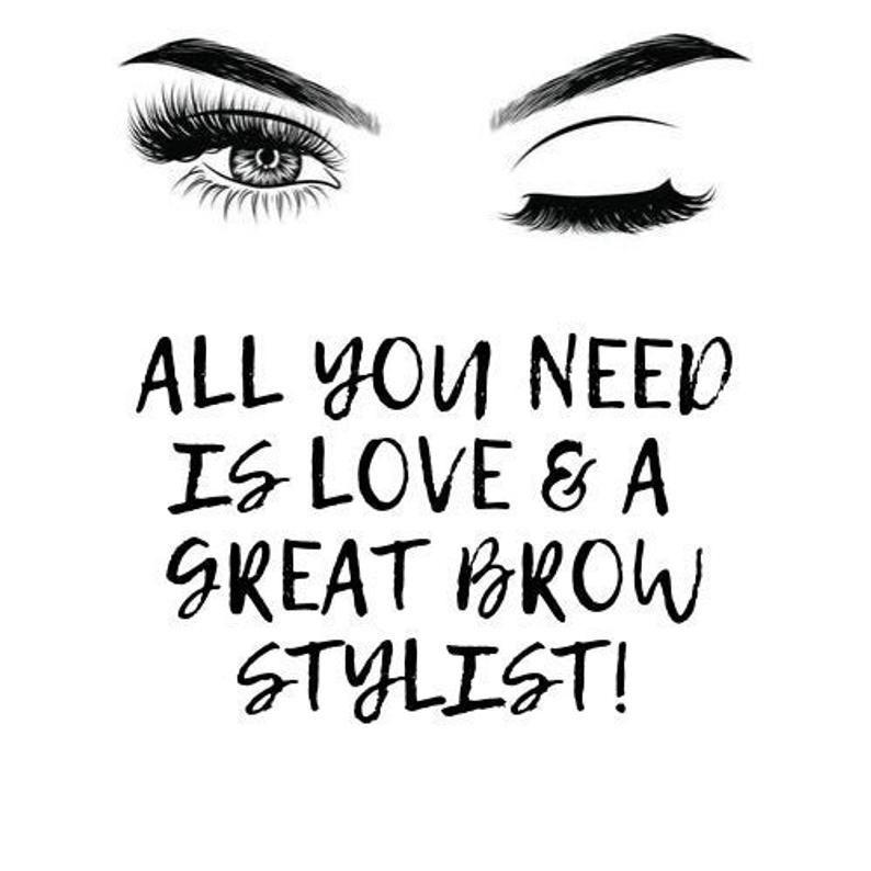 Eyebrows Beauty Print, Brows Artist Digital Art, Gift for