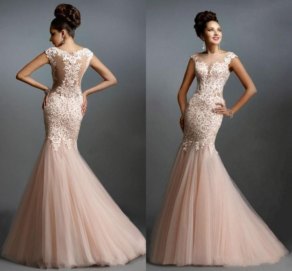 Sexy mermaid lace long evening formal party bridesmaid prom gown