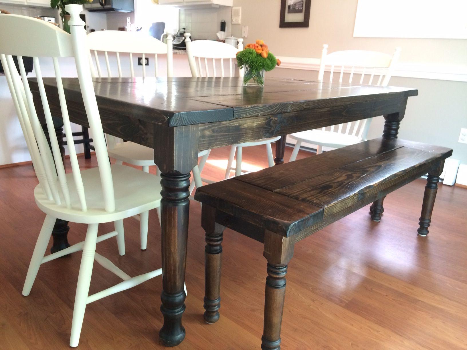 Fancy Legs Farmhouse Table floydrustic Farmhouse table