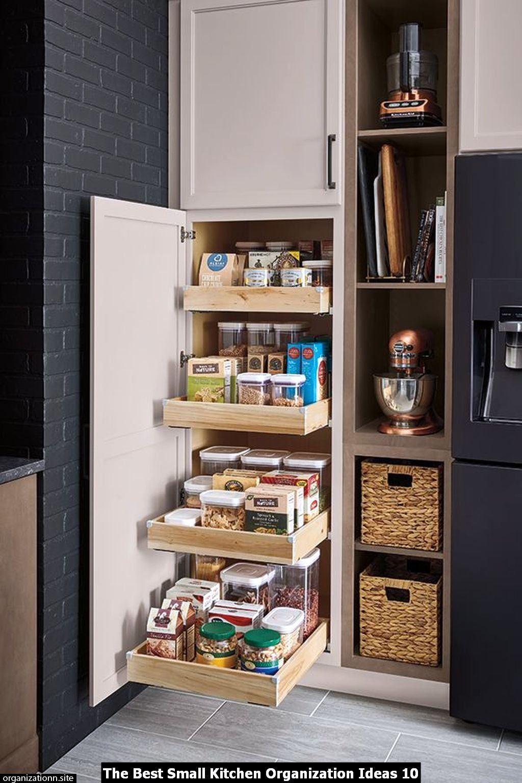 The Top 25 Small Kitchen Organization Ideas Image 13 Of 30 Minimalist Small Kitchens Kitchen Cabinet Design Kitchen Pantry Design