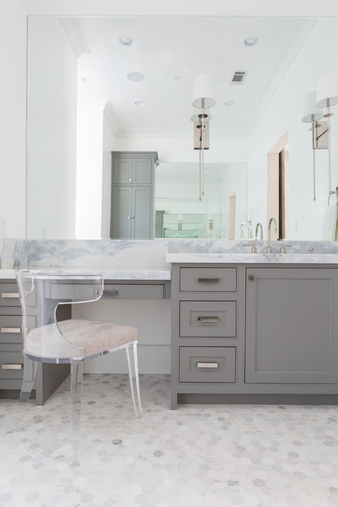 Bathroom Vanity Chair bathroom vanity w lucite chair bath contemporarytalbot cooley