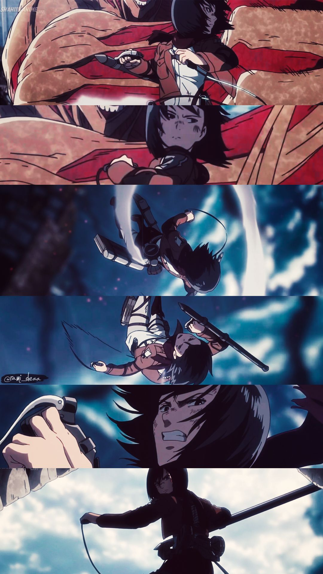 Mikasa Anime, Attack on titan, Titans