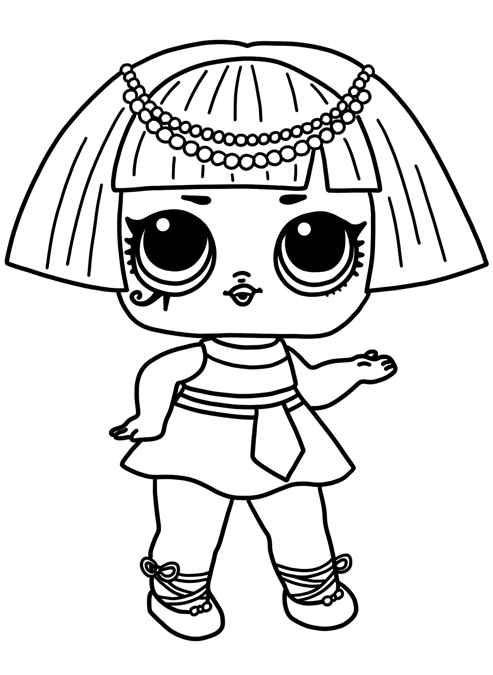 new 2019 lol surprise doll pharaoh babe coloring pages