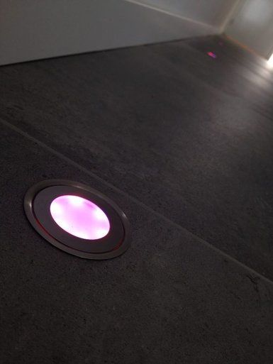 LED grondspots door dealer geinstalleerd met producten van LEDw@re ...