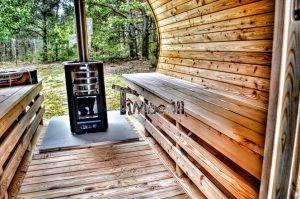 Outdoor Garden Wooden Sauna Wood Burning