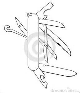 Swiss Army Knife Coloring Page Sketch Template Swiss Army Knife Knife Template Knife