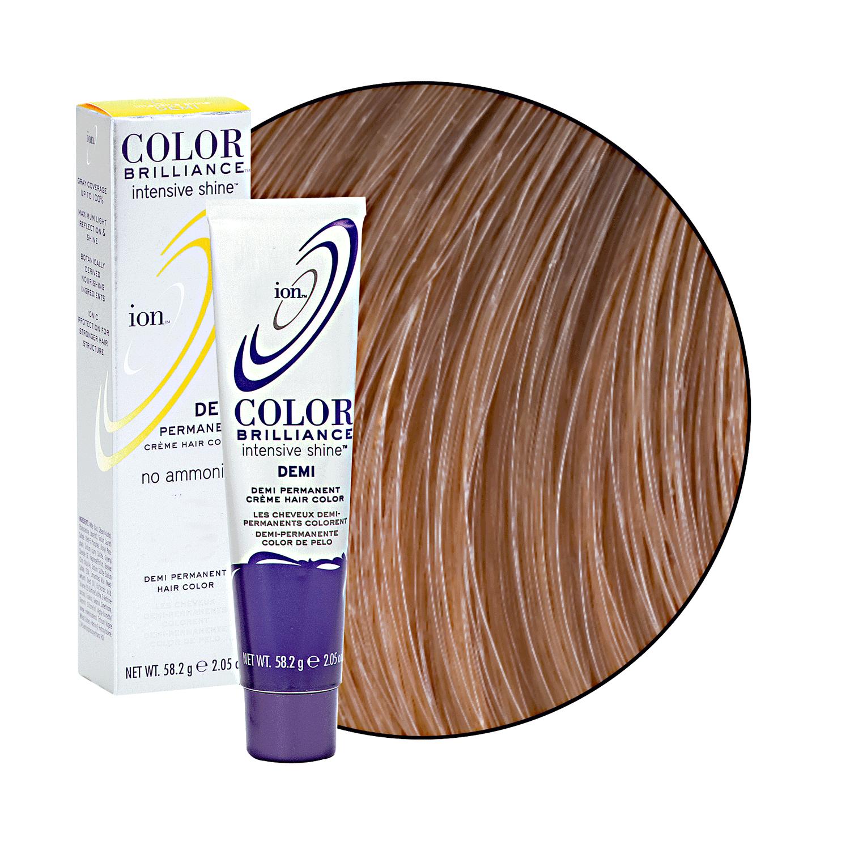 Medium Warm Blonde Ion Color Brilliance Demi Permanent Creme Hair Color Demi Semi Permanent Hair Color Ion Color Brilliance Permanent Hair Color Hair Color