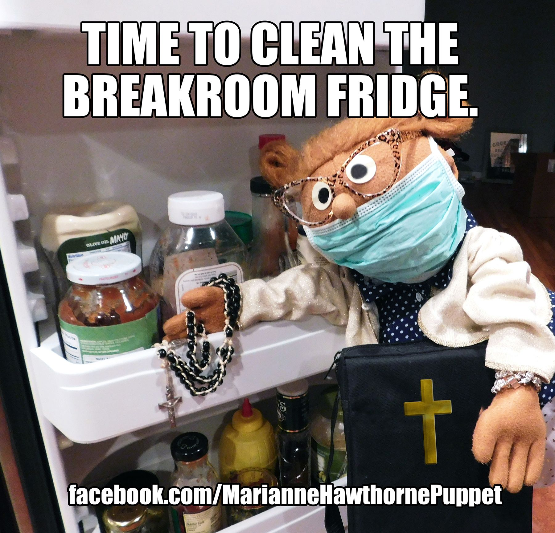 Time to clean the breakroom fridge. Office Humor Funny