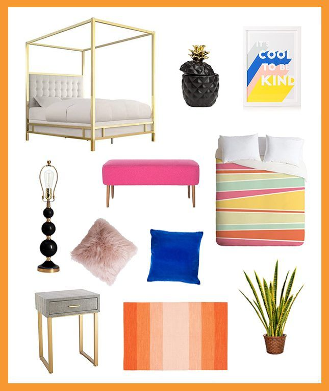 Bookmark this to add a fun + preppy feel to your bedroom for the summer.