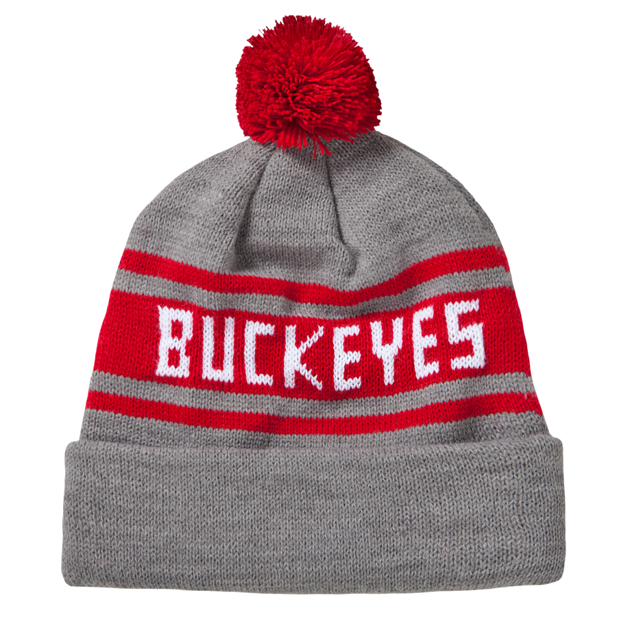 f11988b5737 HOMAGE Ohio State Buckeyes College Scarlet   Grey Ski Hat Cap Beanie -   18.00