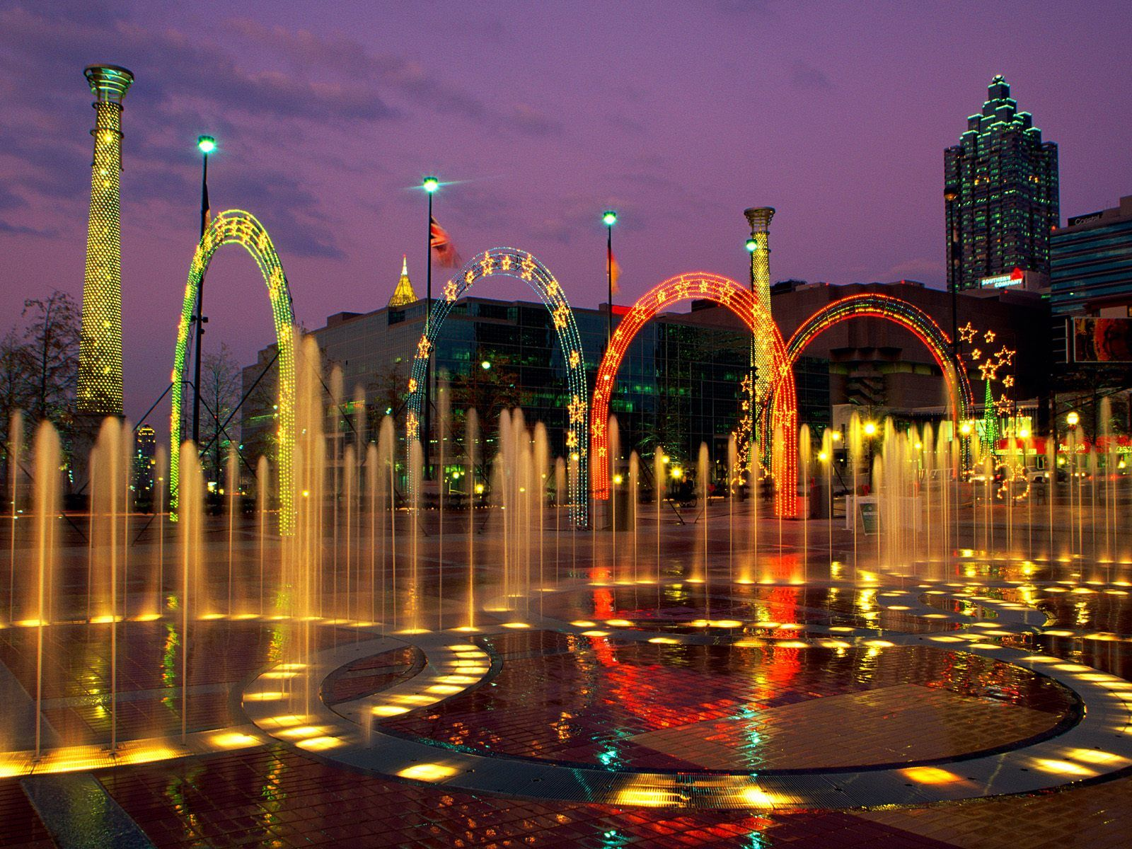 Fountains in Centennial Olympic Park Atlanta Georgia Oh Atlanta
