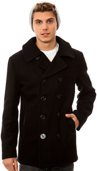 285b5ec970f SCHOTT NYC: The 31 24 Oz Melton Wool Slim Fitted Peacoat | schott ...