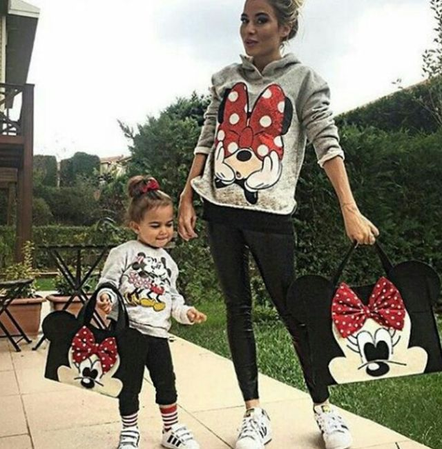 Mother & Kids Enthusiastic Minnie Mouse Family Clothes Set Kids Baby Girl Mother And Daughter Matching Summer Outfits Clothes T-shirt Tops Tutu Skirt Party