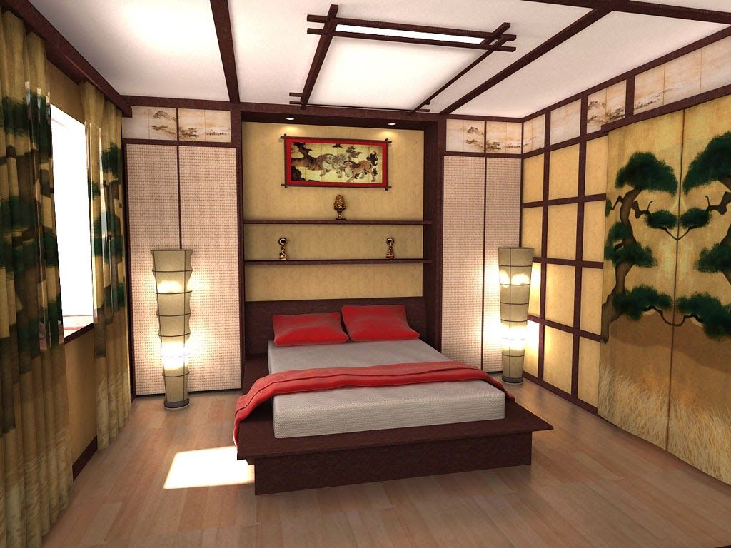 Japanese decor | bedroom ceiling design ideas in japanese style ...