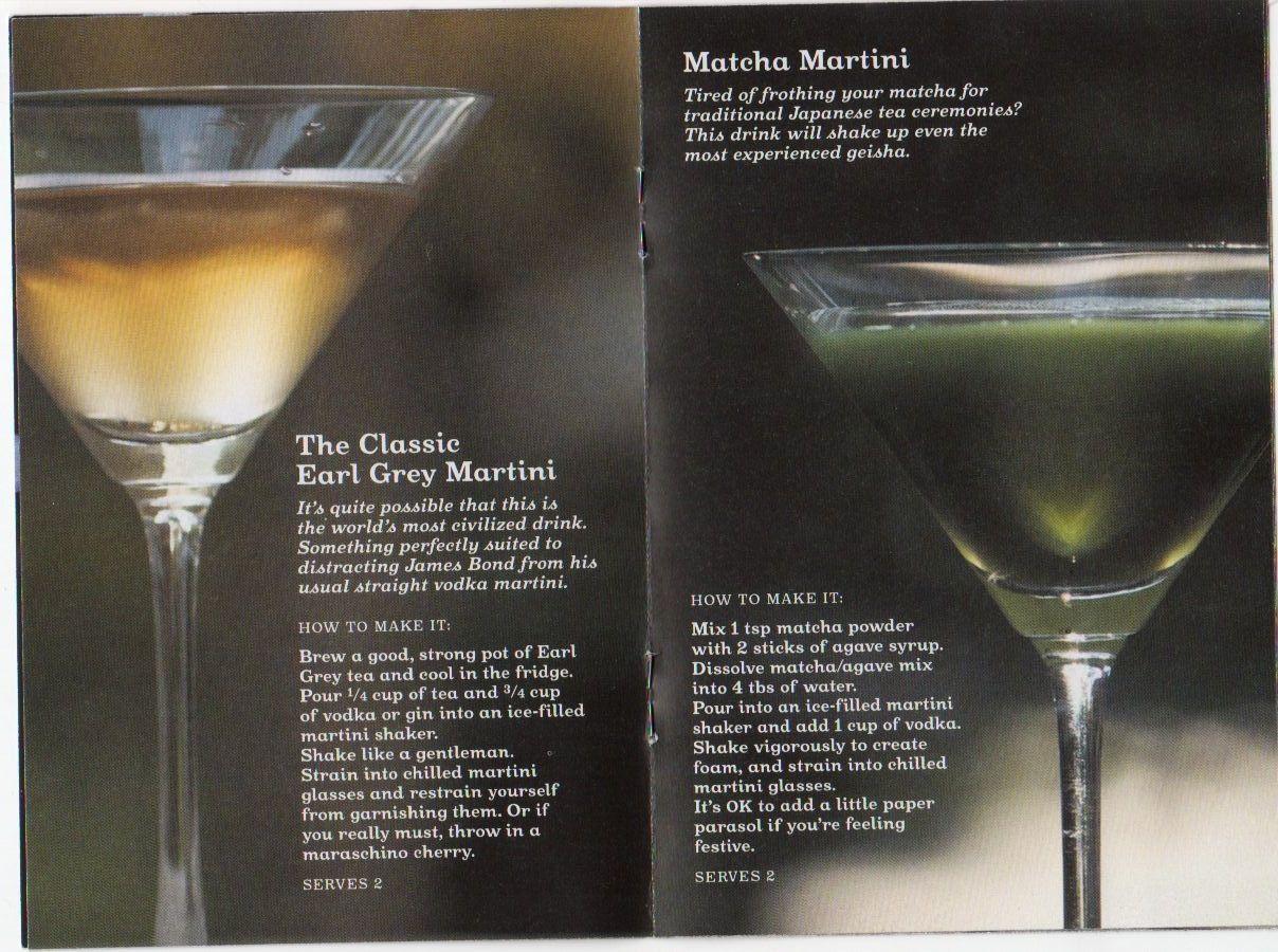 Tea martinis