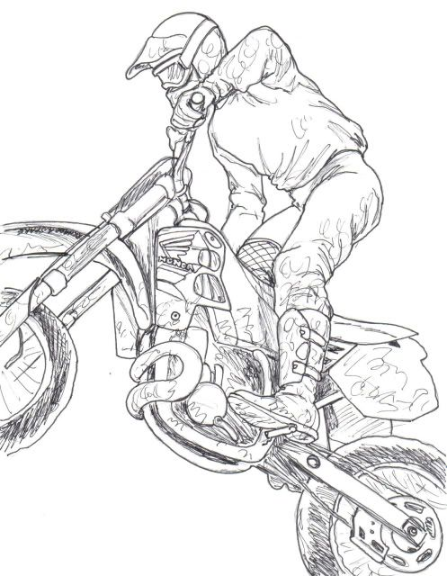 Motocross Bike Drawing