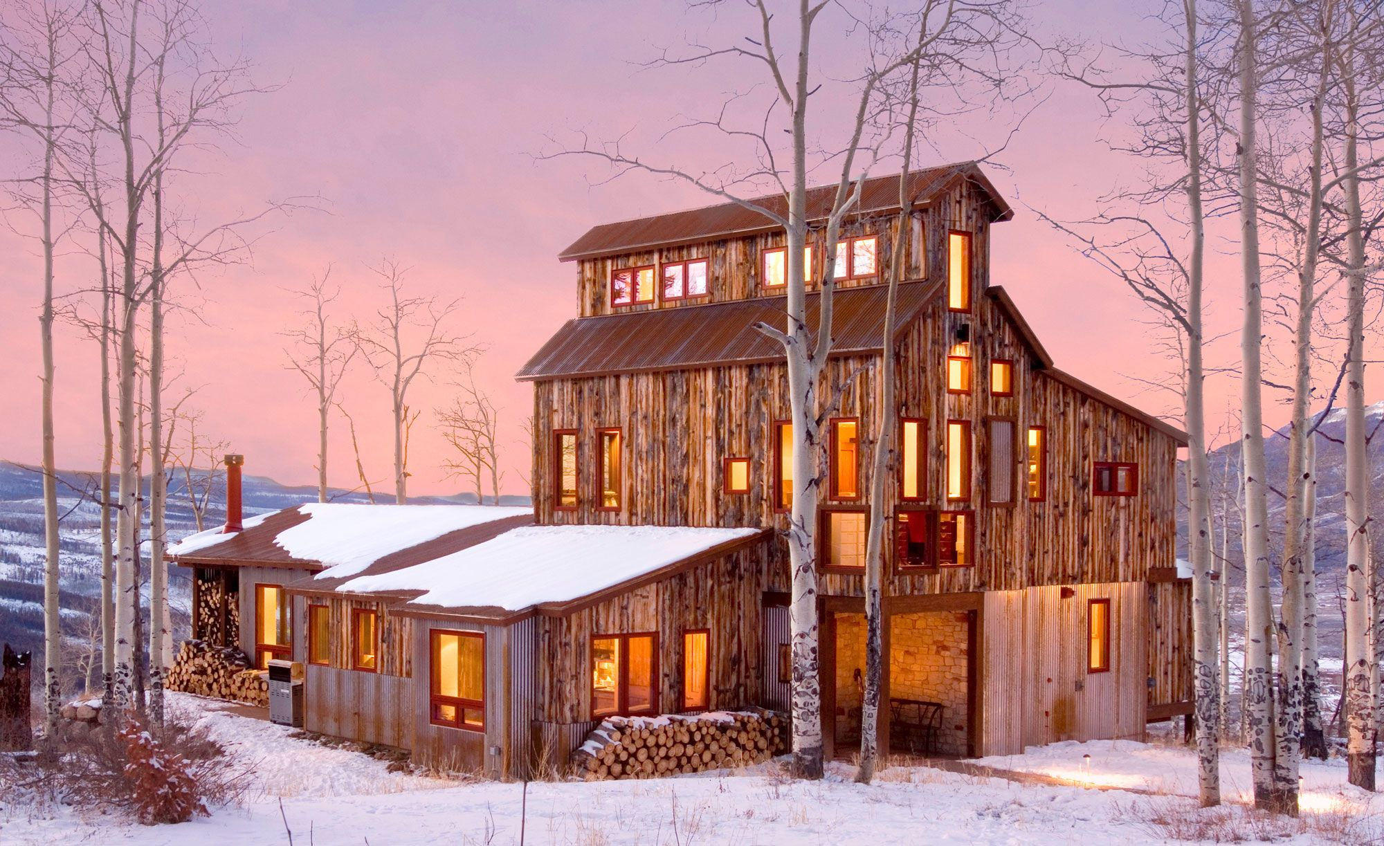 Centennial Woods Is The Largest Provider Of Sustainable Reclaimed Wood In The World Repurposing Old Snow Fen Mountain Home Exterior Converted Barn Homes House