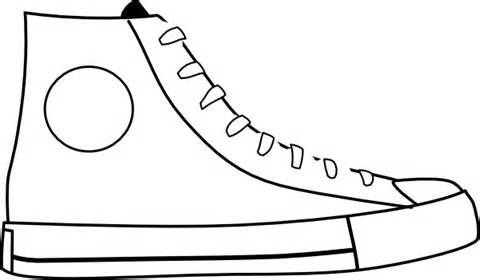 Blank Shoe Coloring Page Coloring Coloring Pages Art Printables