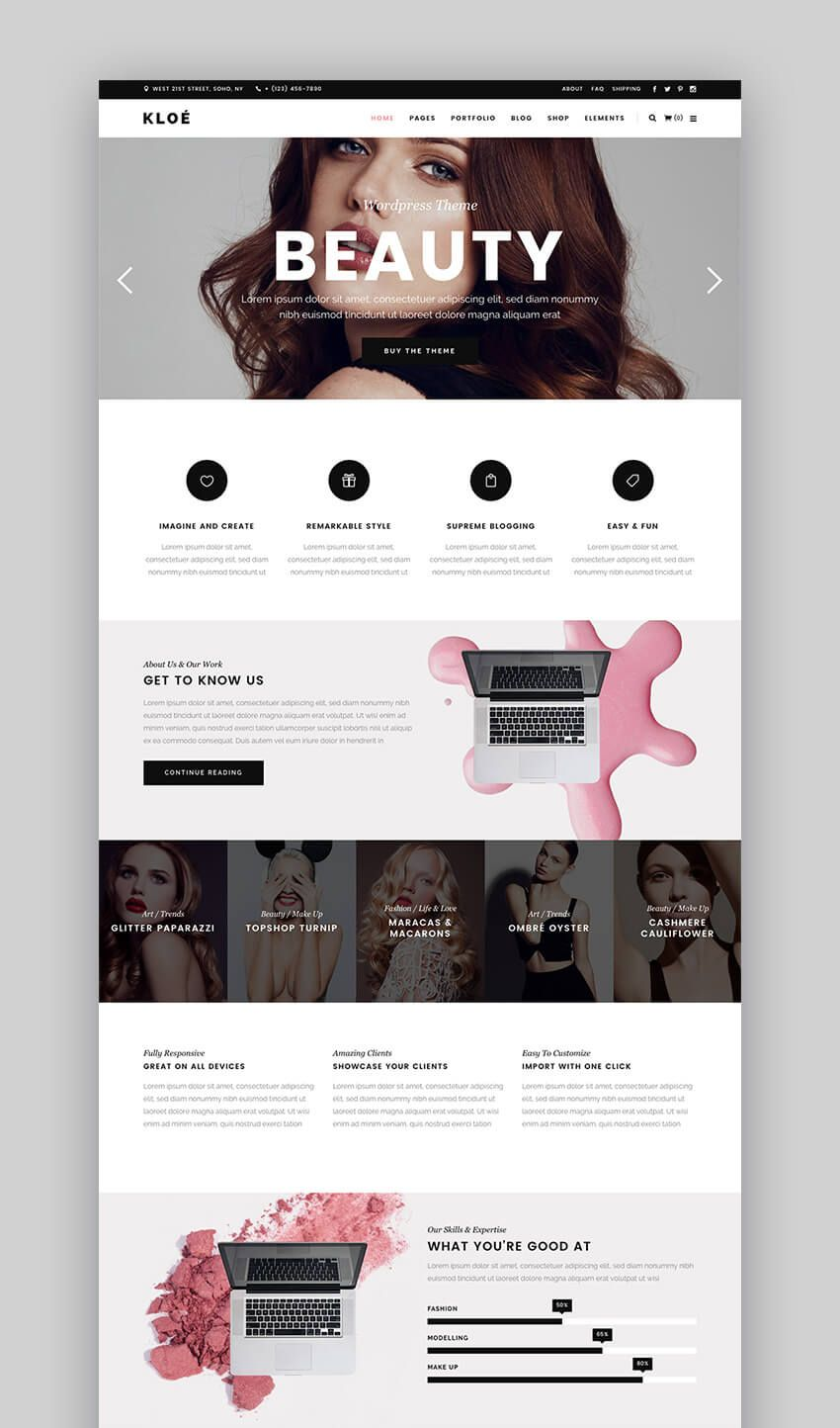 17 Best Fashion Wordpress Themes 2017 For Blog Magazine Sites Web Design Websites Fashion Wordpress Theme Web Layout Design