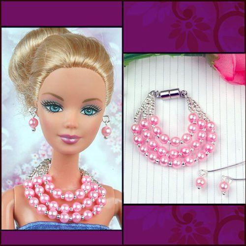 handmade-barbie-doll-jewelry-set-necklace-earrings-for-barbie-dolls ...