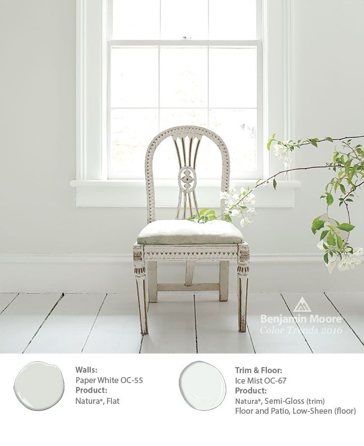 The Subtlety Of Benjamin Moore Paper White Oc 55 On Walls Allows For