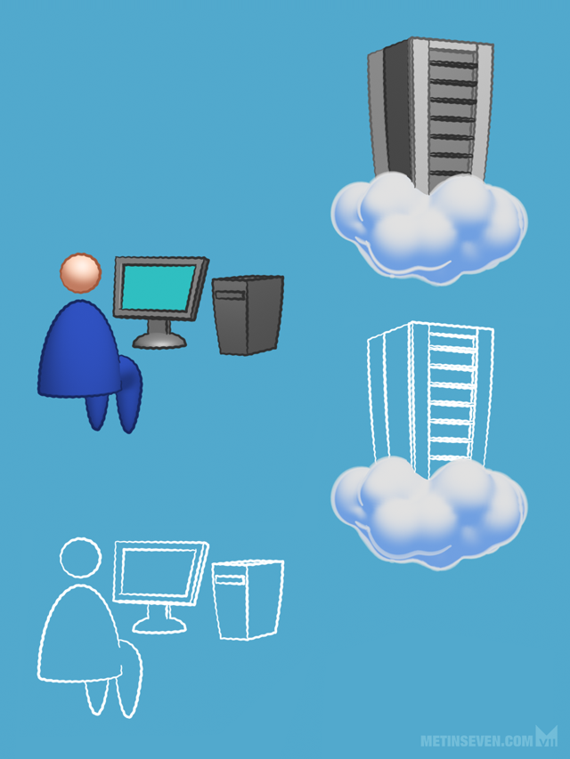 Style proposals for a Microsoft cloud service infographic.
