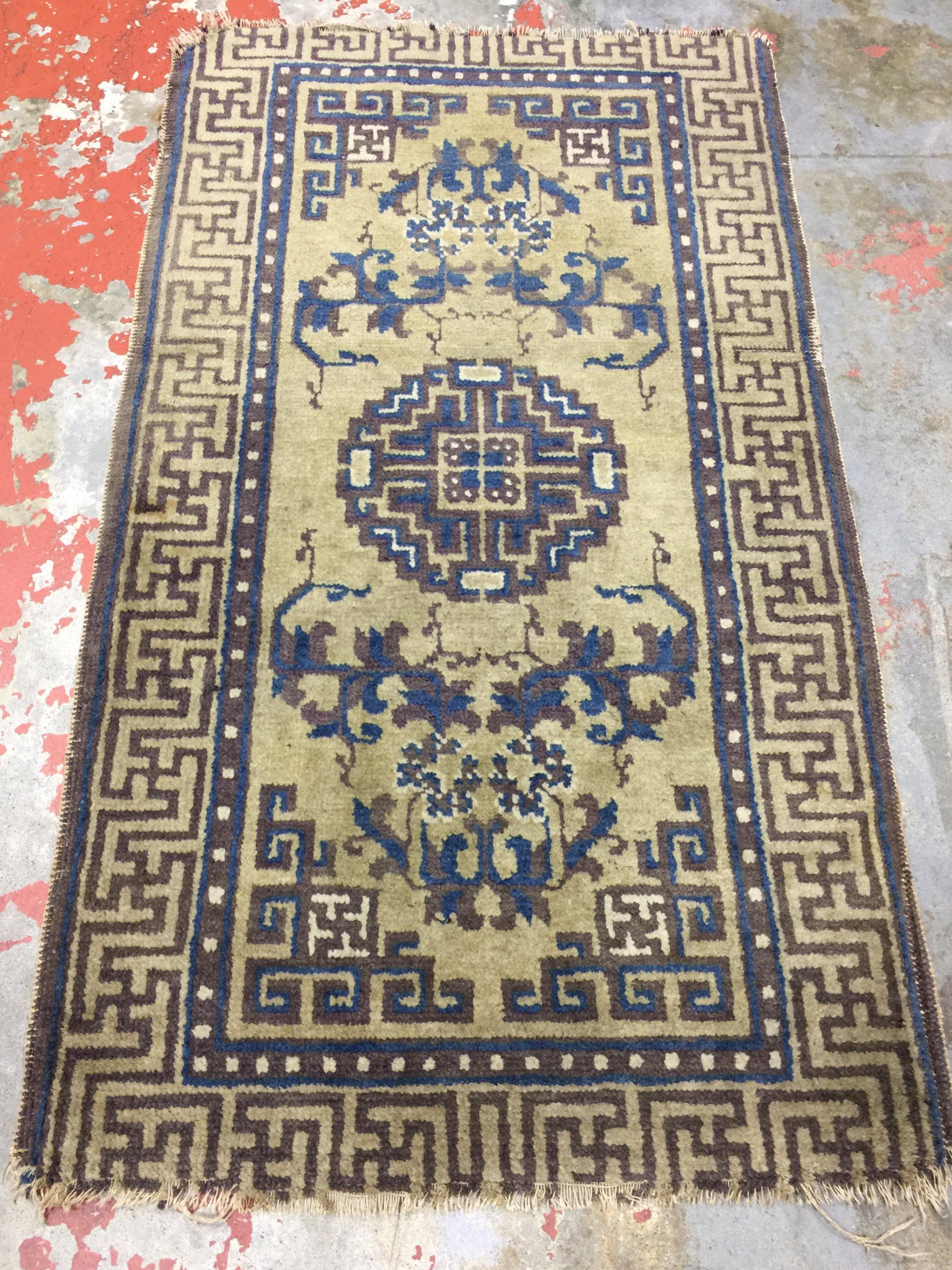 Antique Chinese Rug 2x3 5 Ningxia Rug 19th C Chinese Rug Rugs