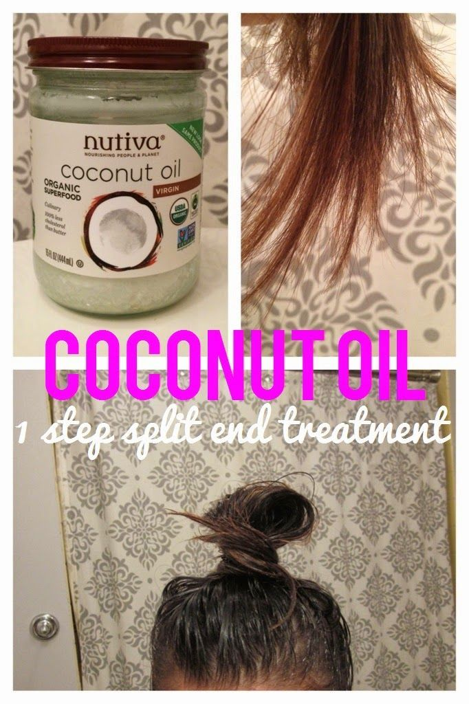 Diy Coconut Oil Hair Mask Tutorial Leave In Treatment For 1 Hour Or