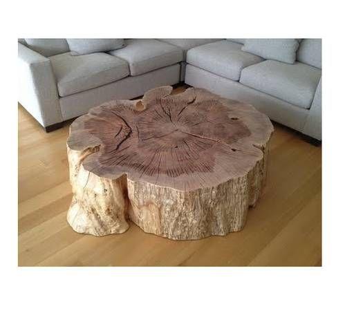 Oak Tree Stump Table Made Here In Houston