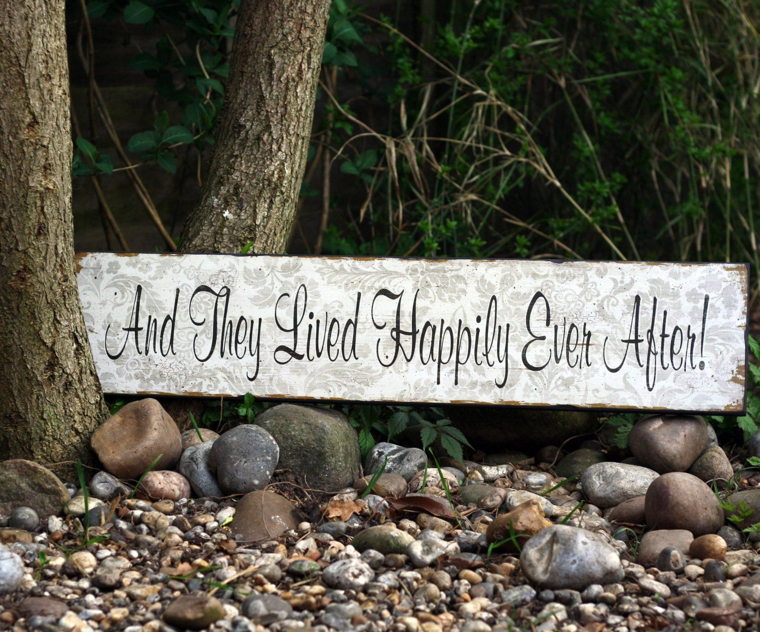 I Ve Just Found Hily Ever After Wedding Sign Large Vintage Style Wooden Reading And They Lived