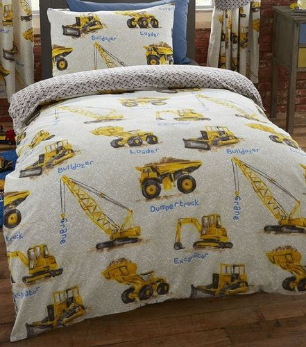 Dumper Truck Bedding Set Construction Site With Images Boys