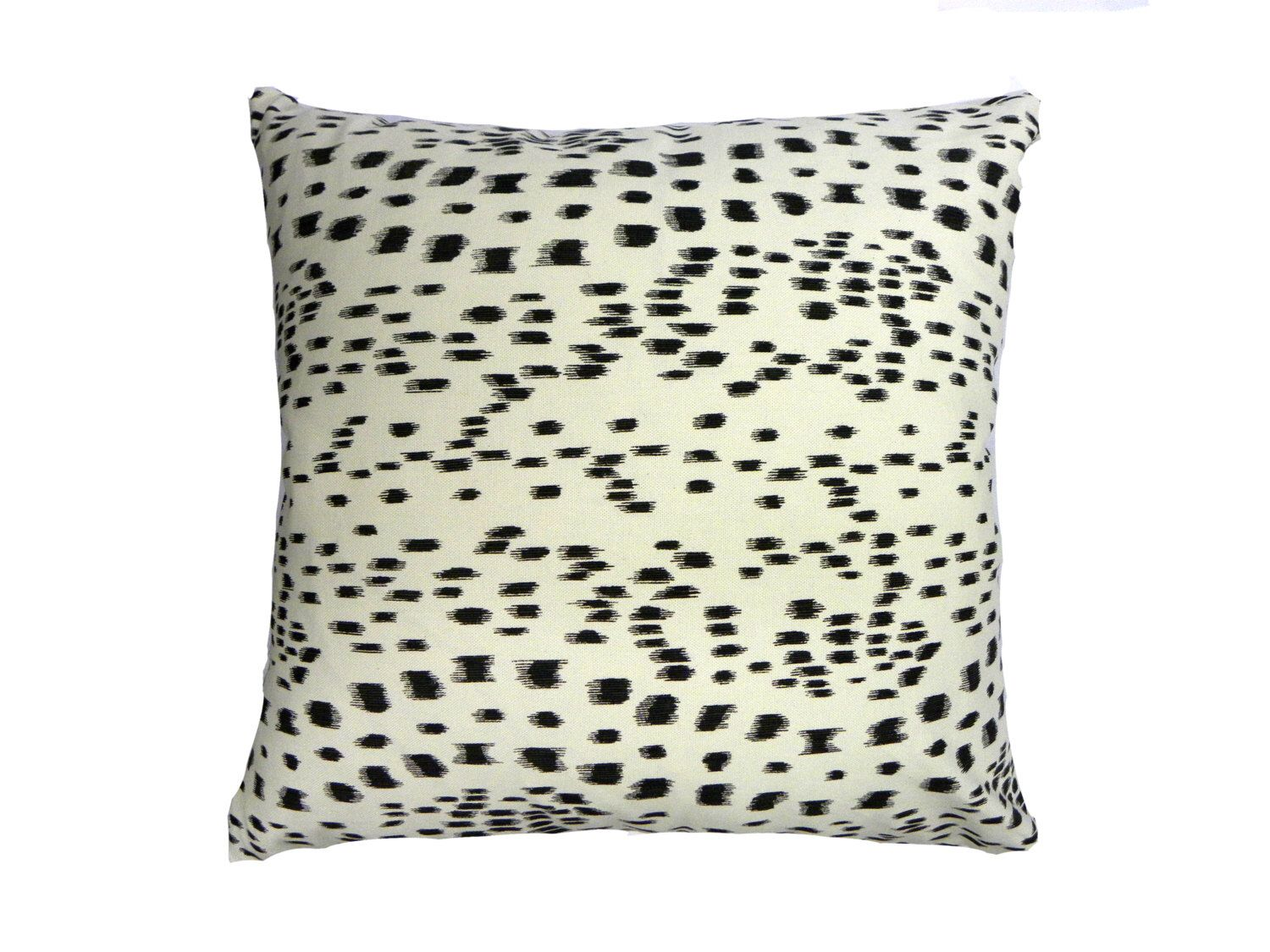 Oversized Dalmatian Dash Pillow Cover - Large Neutral Black and ...