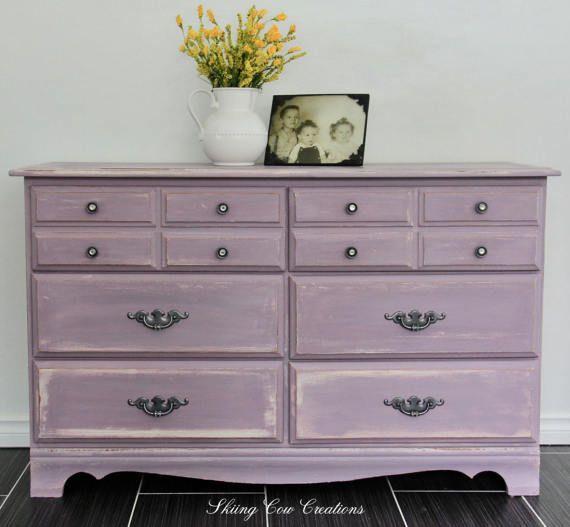 Sweet femininely rustic 6 drawer dresser by skiingcowcreations