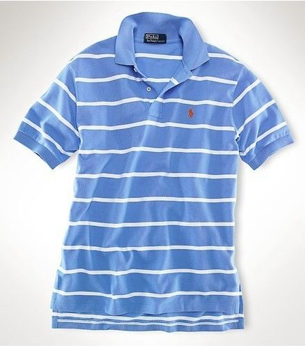 Men's Ralph Lauren Polo Classic-Fit Striped In Light Blue,#polo shirts,