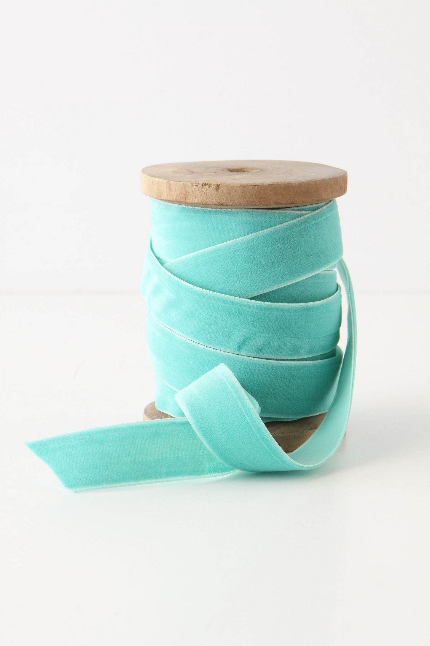 Turquoise Velvet Ribbon $12