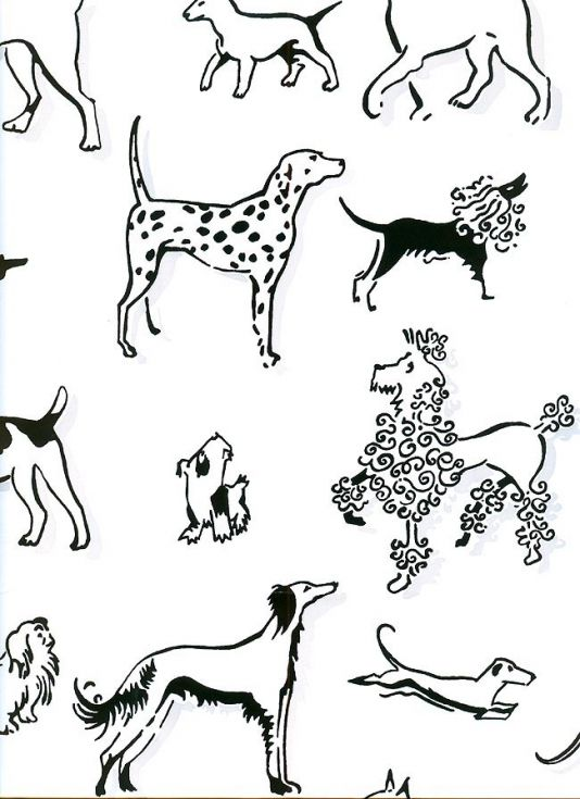 Best In Show Wallpaper Wallpaper With Black Dogs With Light Grey Shadow Print On White Dog Wallpaper