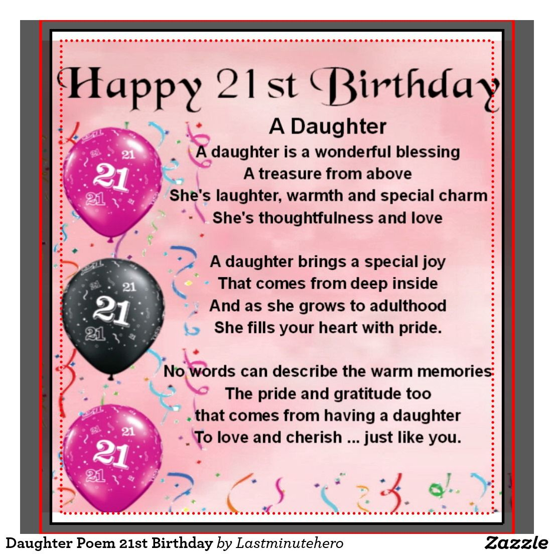 Daughter 21st Birthday Poem Images