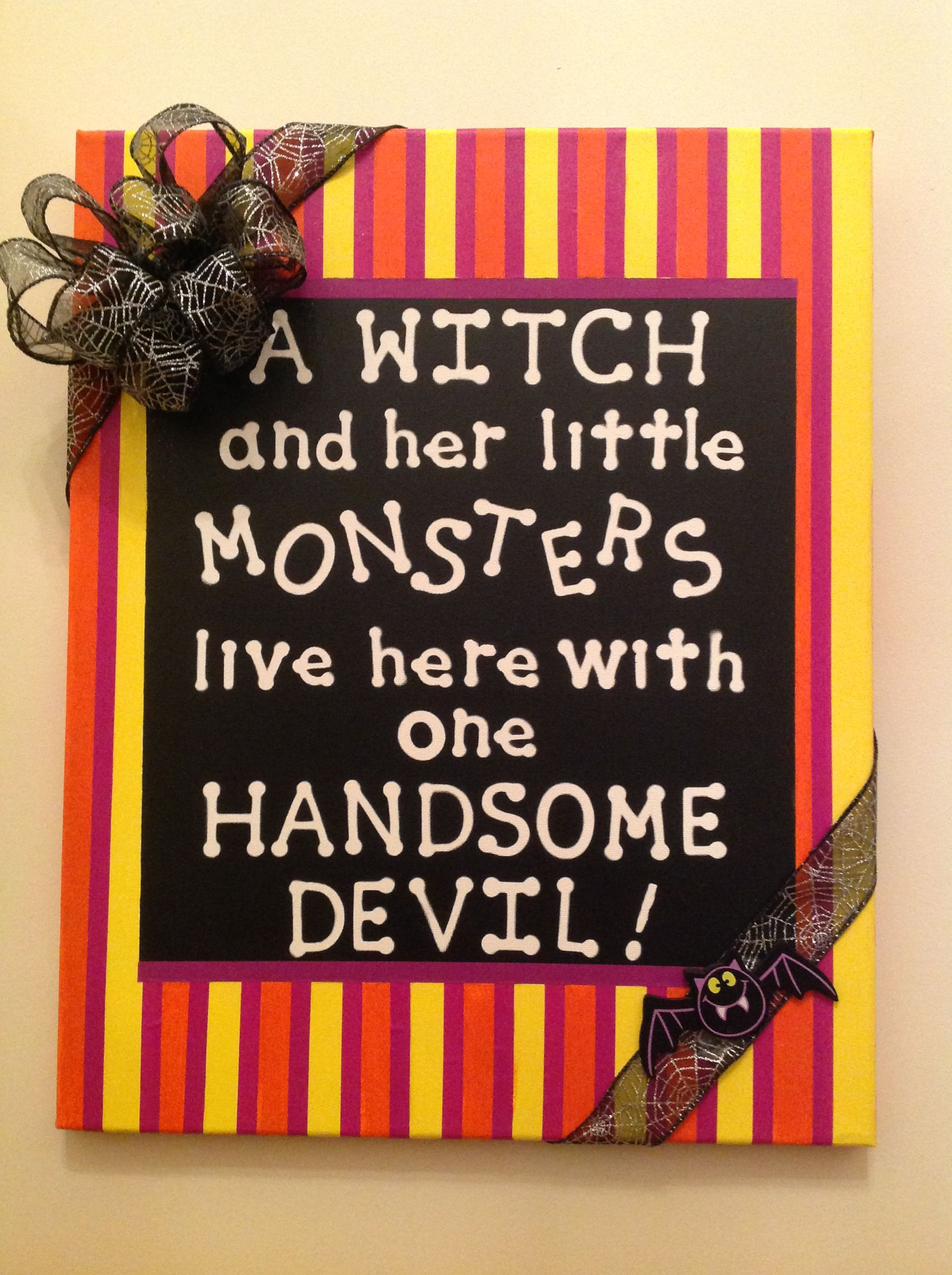 Halloween signa few stick on letters, masking tape and paintan - cute homemade halloween decorations