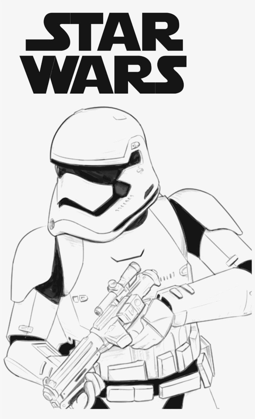 Stormtrooper Coloring Page Star Wars First Order Stormtrooper