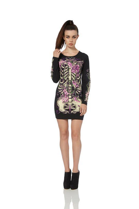 Jawbreaker Women/'s Clothing Alternative Fashion Gothic Gyptia Bodycon Dress