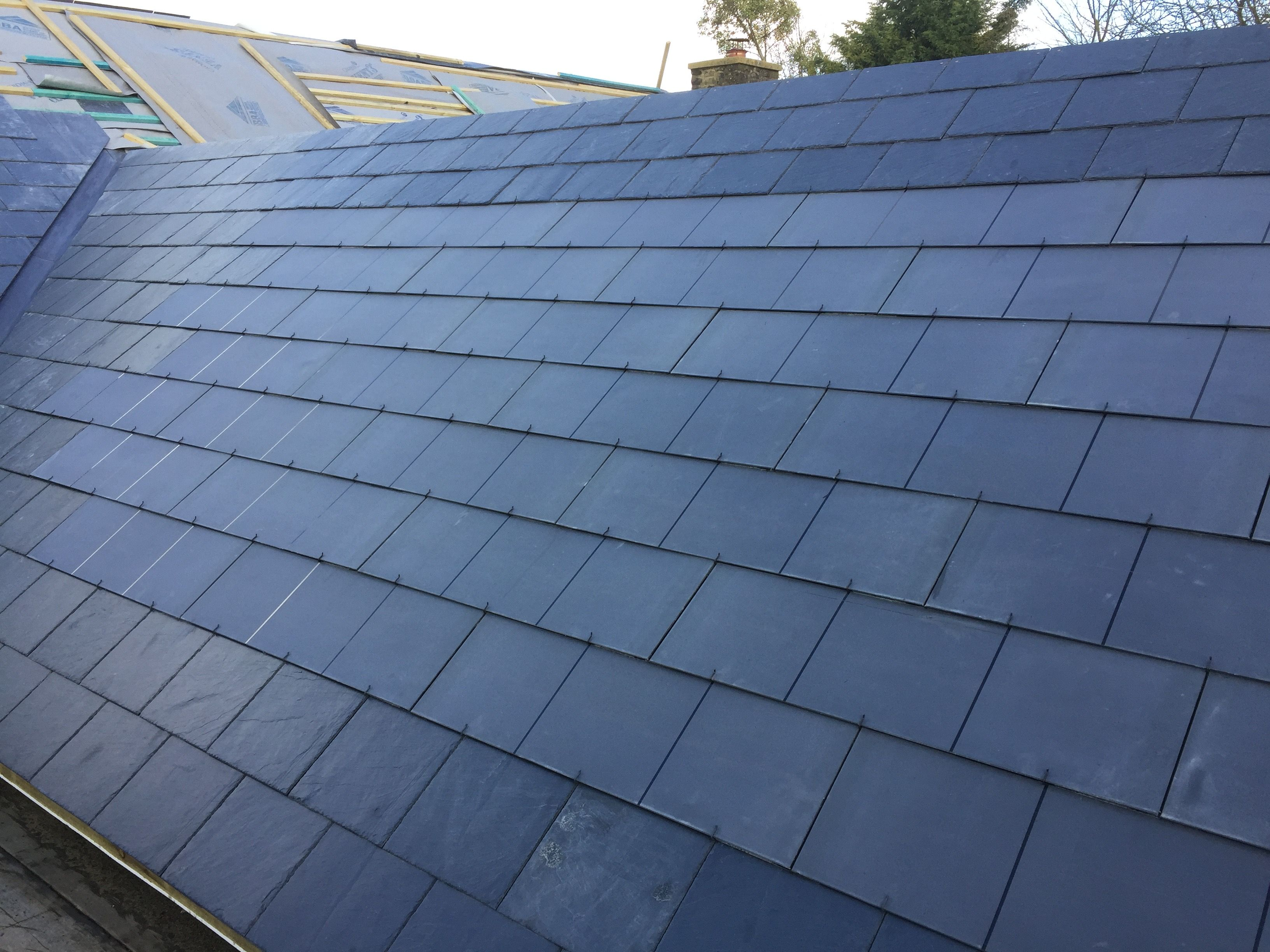 Solar Pv Tiles From Gb Sol Installed By Solar Plants For A Self Build Home Solar Tiles Solar Panels Solar