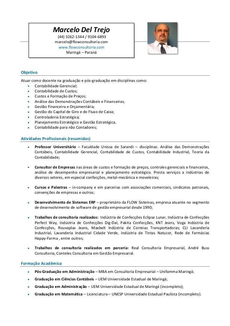 Currículo do Professor Marcelo Del Trejo voltado às IES ...