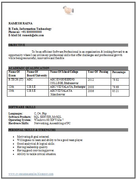 Professional Curriculum Vitae Resume Template For All Job Seekers Beautiful Resume Sample Of An Resume Format For Freshers Resume Format Best Resume Format