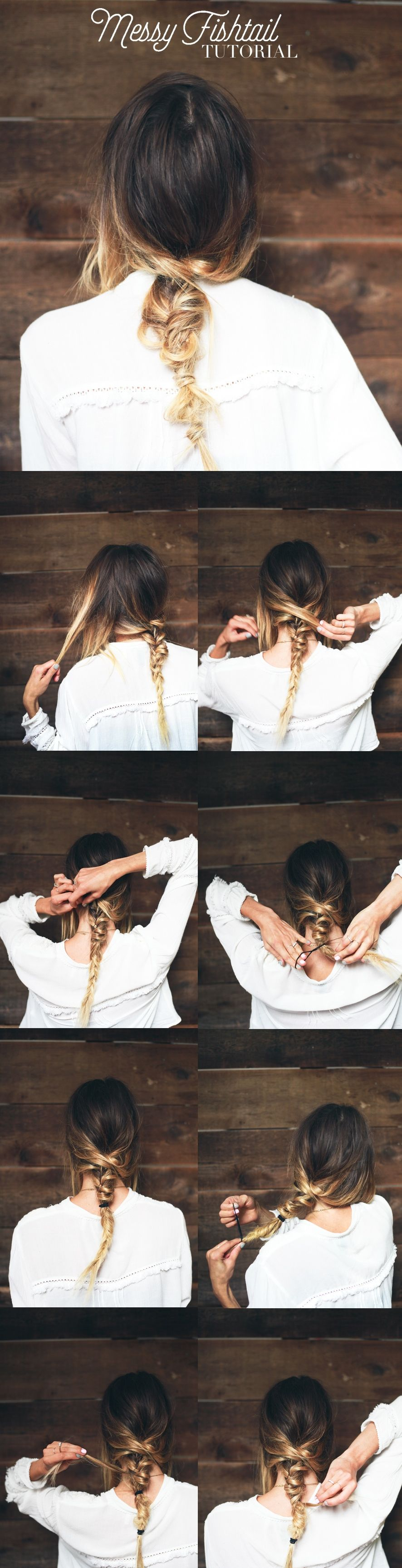 Hair Tutorial // Messy Fishtail #hairtutorials