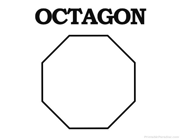 Printable Octagon Shape Printable Shapes Shapes For Kids