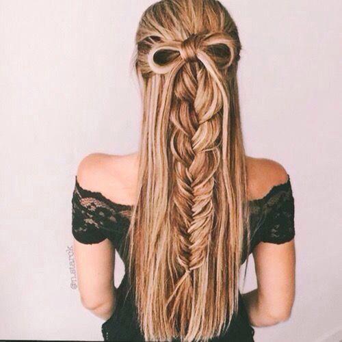 Braid Half Up Half Down Hairstyle Hair Styles Long Hair Styles Down Hairstyles